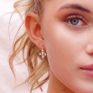 Frasier Sterling Gold CZ Cross Earrings 💘✨ (NWT)